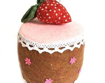 Strawberry cake Pin Cushion