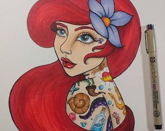 Tattooed Little Mermaid