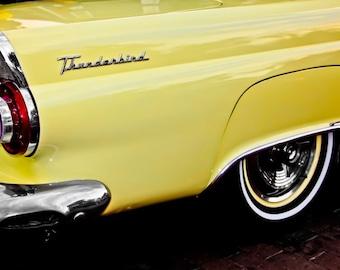 Ford Thunderbird Fin Car Photography, Automotive, Auto Dealer, Muscle, Sports Car, Mechanic, Boys Room, Garage, Dealership Art