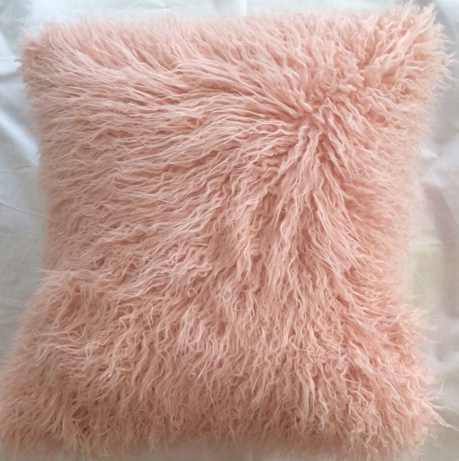 Pink fur pillow cover Pink faux fur pillow cover Fur pink
