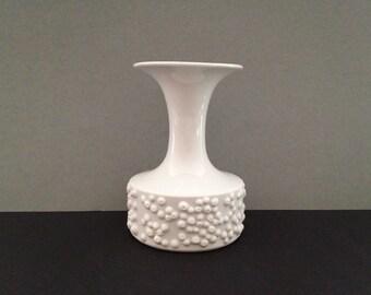 Königlich Pr. Tettau Mid Century Modern 1960s  Germany porcelain elegant stylish vase.