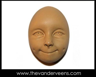 Mold No.42 (Face-Female with shying) by Veronica jeong