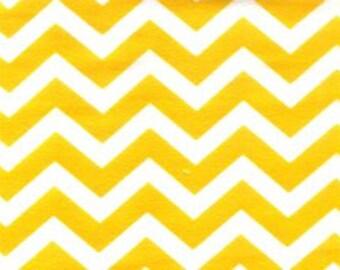 Flannel by the Yard – Sunshine Yellow Chevron 100% Cotton Flannel