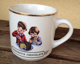 Hershey's Chocolate mug - Chocolate Coffee Mug - Vintage Chocolate Mug - Chocolate Mug - Hershey's Mug
