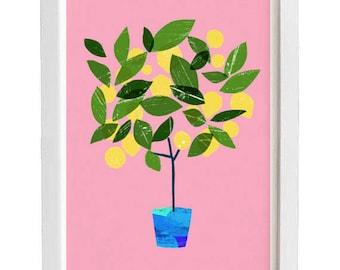 Meyer Lemon Tree - citrus art print / high quality fine art print