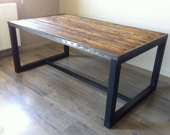 Wood spirit industrial dining TABLE