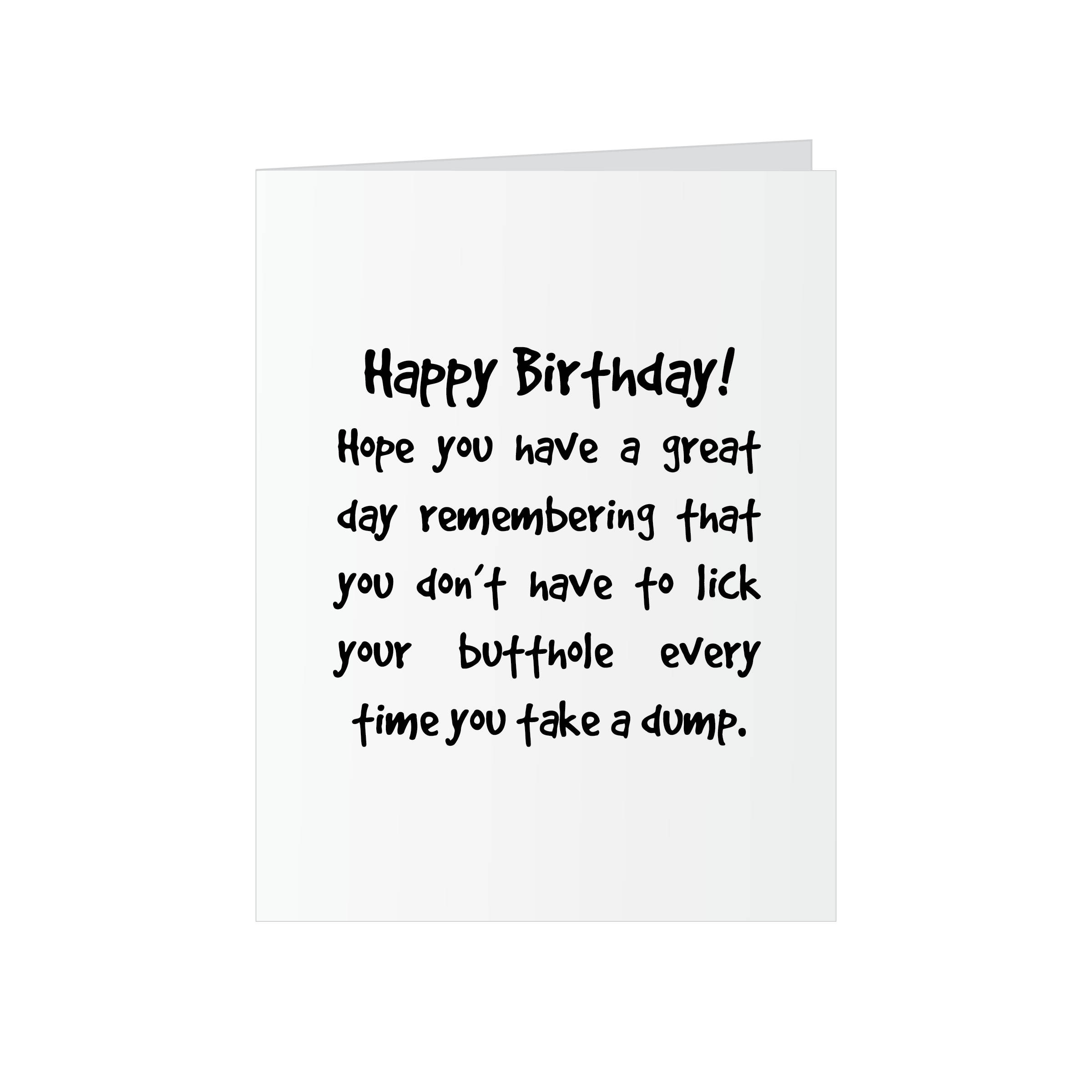 Funny birthday greeting card rude funny happy birthday for him funny birthday greeting card rude funny happy birthday for him or her mature kristyandbryce Images
