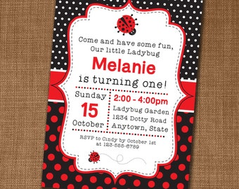 Ladybird invitations etsy ladybug party invitation ladybug invite ladybug birthday ladybird party edit yourself at home solutioingenieria Choice Image