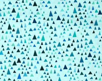 Turquoise Triangles from Robert Kaufman's In The Bloom Collection by Valori Wells