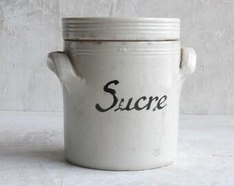 Ceramic French Sugar Jar