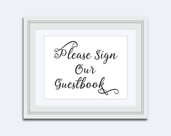 Sign our Guestbook - printable wedding sign - Wedding printable - guestbook sign - Wedding Table Signs - instant download - DIY printable