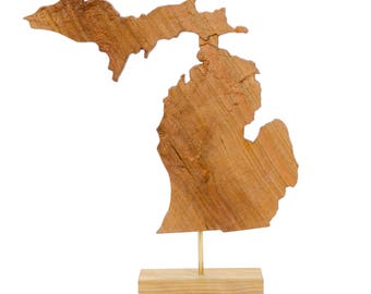 Wooden topographic map of Oregon 3d map wood geographic wall