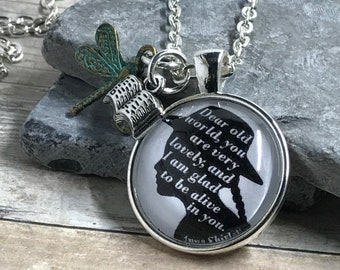 Anne of Green Gables - Anne Shirley - Quote - Necklace - LM Montgomery - Book - Literary - Gift - Reader - Writer