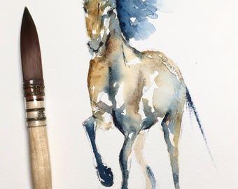 WATERCOLOR Horse, WATERCOLOUR,  Horse Art, Abstract Horse,Horse Art, Wall Art, Watercolour Art, Watercolor Art