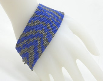 In the Wild Handwoven Beaded Cuff