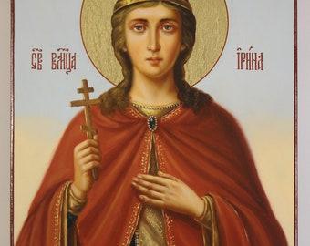 Saint Irene icon, hand-painted icon, Russian Orthodox icon, Religious icon