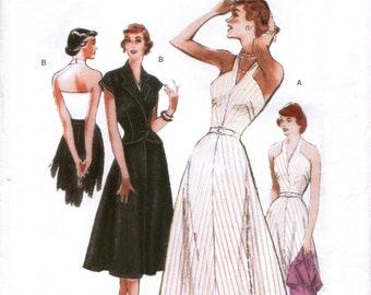 BUTTERICK 5214 sewing pattern. Dress and jacket pattern.  Retro Butterick '47.  Size 16-18-20-22-24.  New.  Uncut.  Factory folded.