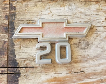 "Original Chevy OEM CM9526 - 1967-68 Chevrolet Pickup Series ""20"" Fender Emblem / Chevy Emblem 20 / Chevrolet Pickup / Chevy C20 Emblem"