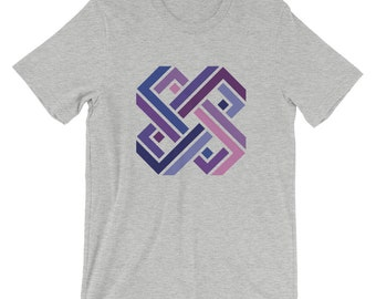 Impossible Knot Geometry Unisex T-Shirt