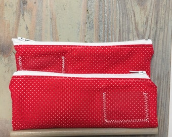 Add on 2 zippered pockets for cash wallets