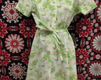 60's Polyester Butterfly Dress