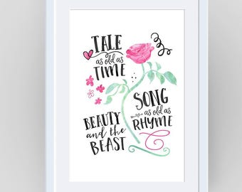 Tale As Old As Time, Beauty and the Beast Decor, Beauty and the Beast, Enchanted Rose, Beauty and the Beast Movie, Beauty And the Beast Rose