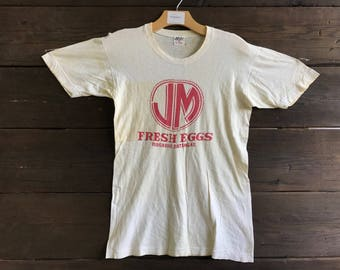 "Vintage 50s/60s ""Fresh Eggs"" 50/50 Tee"