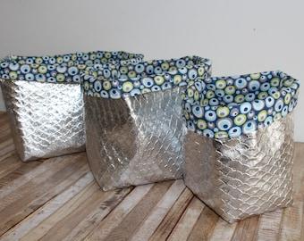 Set of 3 storage baskets / tidy