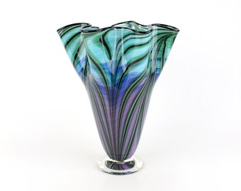 Hand Blown Art Glass Vase