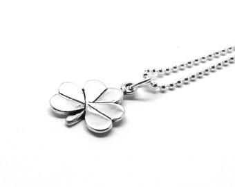 Shamrock Necklace, Shamrock Jewelry, Shamrock Pendant, Charm Necklace, Clover Necklace, Sterling Silver Jewelry, Sterling Silver Shamrock