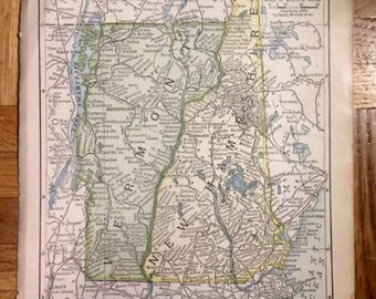 PICK ONE! Various Small Antique United States Maps 1898-1904 by Rand, McNally & Co. USA Vintage State Map Americana Ephemera