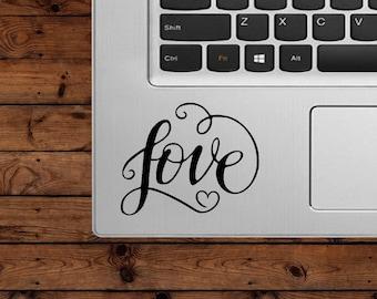 Love Decal - Love - Glitter Decal- Heart Decal - Laptop Decal - Cell Phone Decal - Car Decal - Tumbler Decal