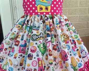 Shopkins theme twirl dress