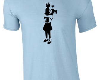 Banksy Girl With Bomb Children's T-Shirt