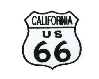 California US Route 66 Embroidered Applique Iron on Patch