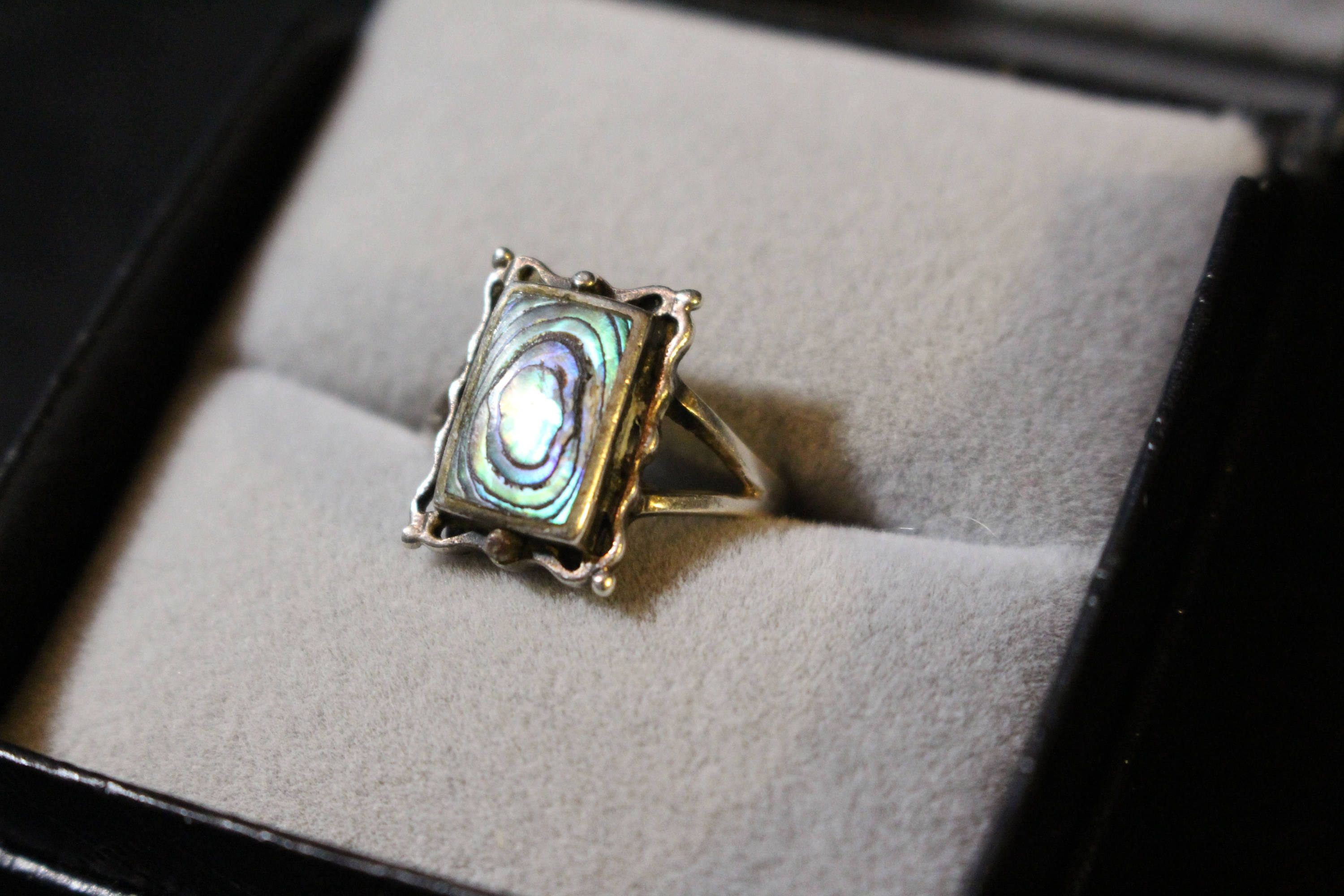 endearing style ring true aeravida sr details shaped products the aba stone shell vintage or heart abalone handcrafted a rings kung wedding this devotion turquoise from sterling artisan thailand features silver