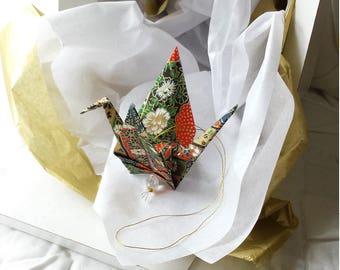 Exquisite Origami Paper Crane hanging decor - Peace Crane Gift - Origami crane - Thank you - Congratulations - Anniversary - Get well -#A5HG