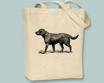 Labrador Dog  Canvas Tote -- Selection of sizes, ANY IMAGE COLOR available