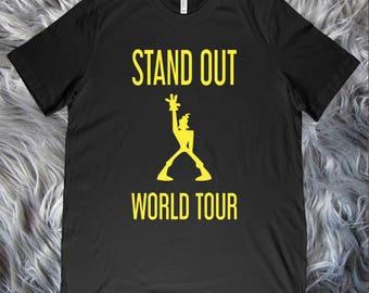 Stand Out World Tour Mens Shirt - Power Line - Powerline - Goofy - WDW - DL - THeme Park Shirt