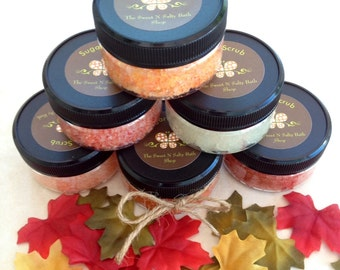 Set of three Sugar Hand & Body Scrub Fall Sampler- You choose scents