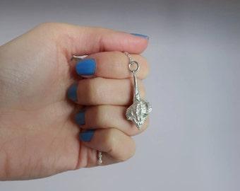 Sterling silver seashell necklace -  seashell necklace - Seashell pendant - Silver seashell jewelry -  Beach jewelry - Sea jewelry