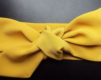 Mustard adult head band hair wrap scarf bandana headwrap
