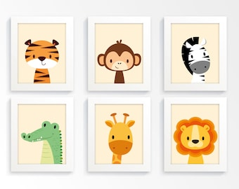 Nursery prints - Safari nursery, animal nursery, zoo animal prints, kids wall art, childrens art, nursery print, children's art, nursery art
