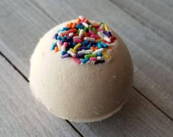 Birthday Cake Bath Bomb - Fizzy - Handmade
