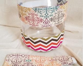 Reversible Headband -multi-colored chevron/multi-colored design