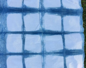 Hand-Dyed Shibori Indigo Fabric