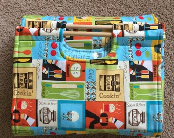 Insulated Casserole Carrier Cooking Blocks with Recipe Interior , Personalization Available