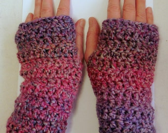 Pink Fingerless Gloves Pink Crocheted Fingerless Gloves Mauve Fingerless Gloves Mauve Crocheted Fingerless Gloves Pink Crocheted Gloves