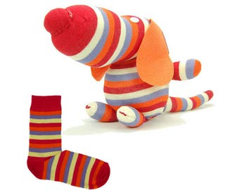 Sewing Kit to make a puppy with a pair of socks / creative DIY complete Kit