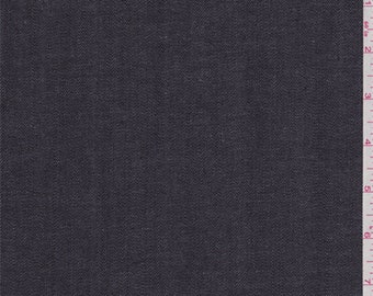 Midnight Navy Rubber Backed Denim, Fabric By The Yard